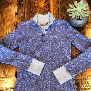Kavu Lopez Button Pullover Periwinkle Blue